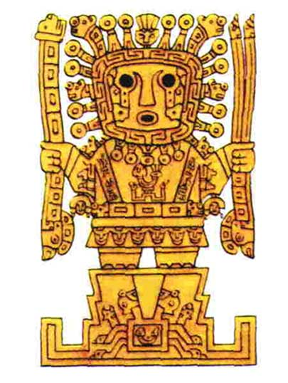 Viracocha is the great creator deity in Inca mythology.