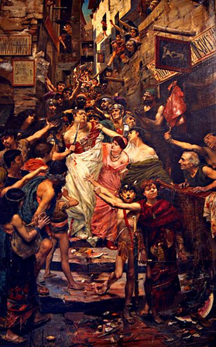 Vitellius dragged through the streets of Rome by the populace. (Pimbrils / Public Domain)