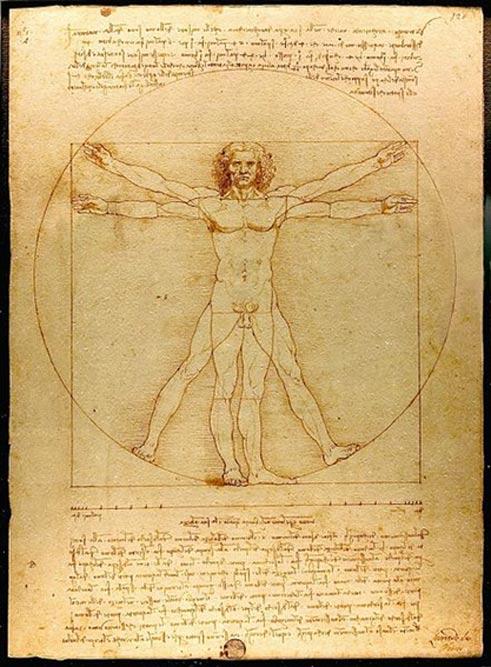'Vitruvian Man' (c. 1492) by Leonardo da Vinci.
