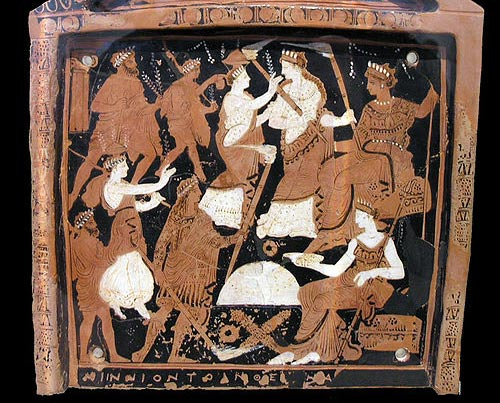 Votive plaque depicting elements of the Eleusinian Mysteries