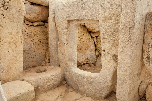 Walls with square portholes - Hagar Qim, Malta