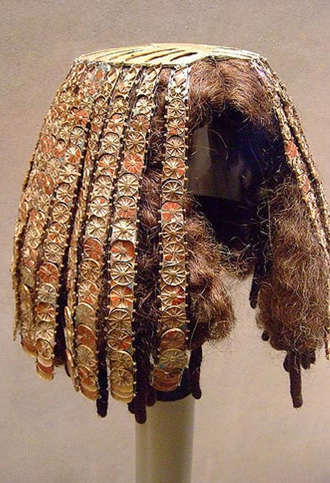 Wig Cover 18th Dynasty, reign of Thutmose III, 1479-1425 BC.