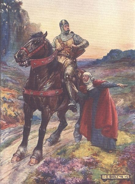A 1906 depiction of William Wallace in H.E. Marshall's 'Scotland's Story.'