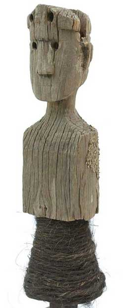 Wooden anthromorphic bust from Flores, Indonesia.