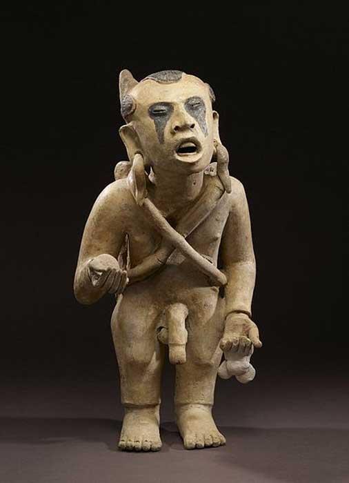 Xipe Totec Impersonator, 600-900 AD (Late Classic). (Public Domain)