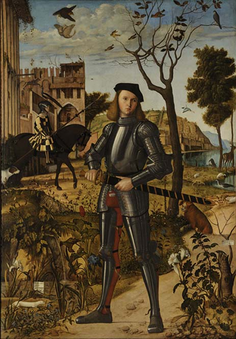 Young Knight in a Landscape by Vittore Carpaccio. (Public Domain)