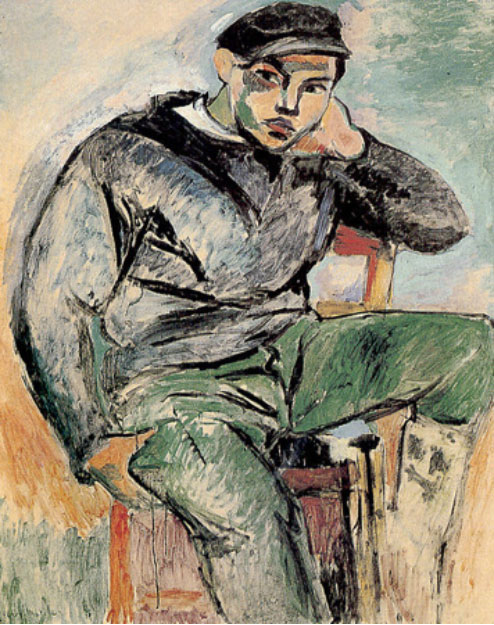 The Young Sailor I, Oil on canvas. 99 x 77.5 cm. Private collection. Henri Matisse, 1906.