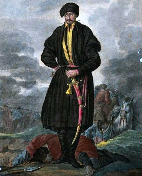 Zaporozhian Cossacks Officer in 1720. (Public Domain)