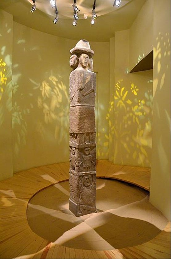 The Zbruch Idol, (Swiatowid Cult Statue)