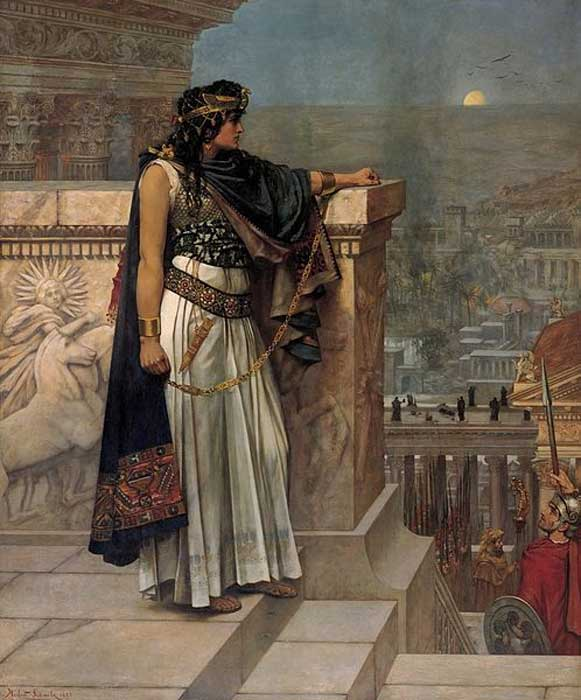 Zenobia's Last Look at Palmyra', by Schmalz. (Public Domain)