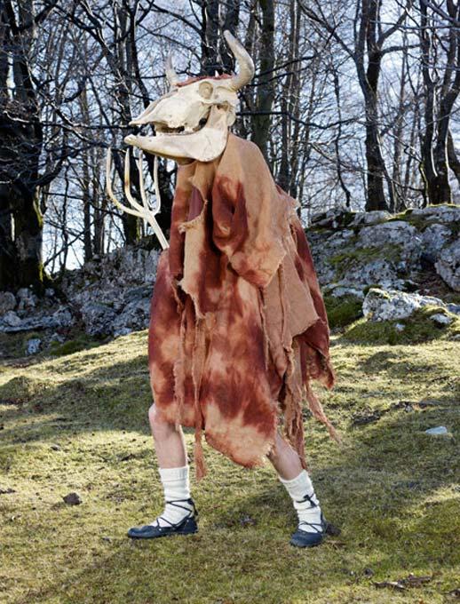 Zezengorri, a wild man in Spain's Basque Country.