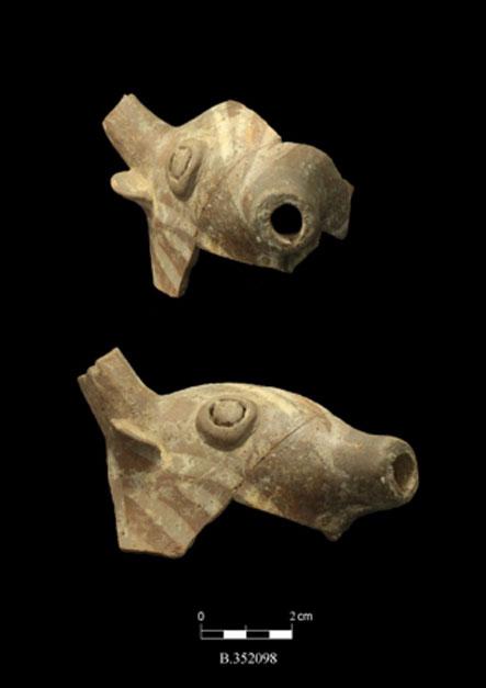 Zoomorphic Canaanite figurines, Tel Burna, dating to around 3,200 years ago.