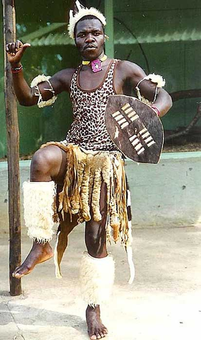 Zulu man performing traditional warrior dance. (Emmuhl/CC BY SA 3.0)