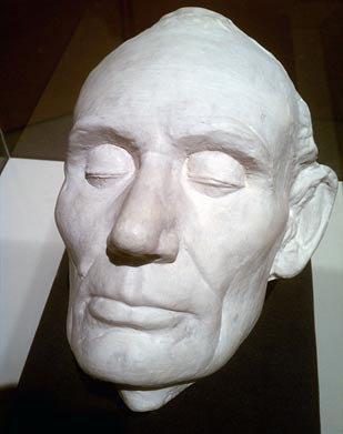 A life cast of Abraham Lincoln