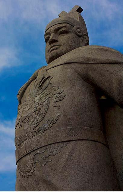 Monument honoring admiral Zheng He. Melaka, Malaysia.