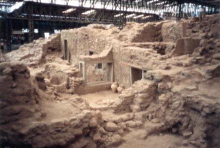 Excavation at Akrotiri