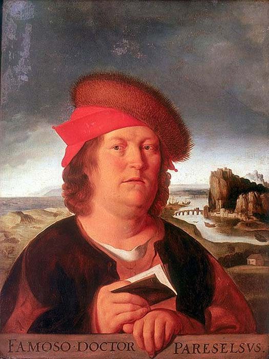 Portrait of 15th century alchemist Paracelsus (public domain)
