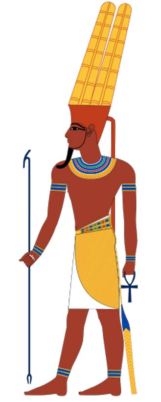 Amun, an ancient Egyptian god.