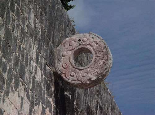 Ancient Maya ballgame called poc-ta-poc