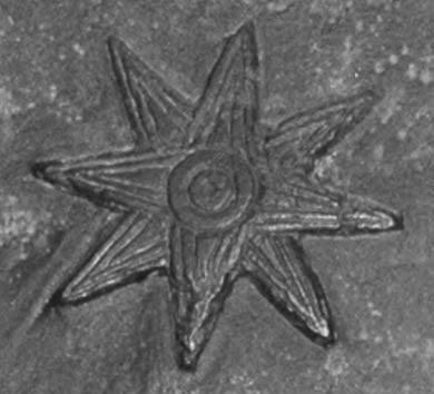 A version of the ancient Mesopotamian eight-pointed star symbol of the goddess Ishtar/Inanna