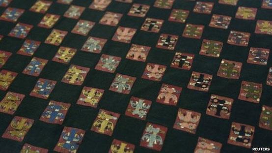 Ancient Paracas Shroud detail