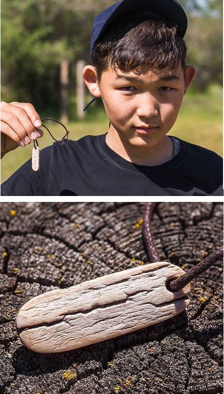 The fifth-grade student Pavel discovered the 'jewellery' decorated with ancient Turkic runic inscriptions.