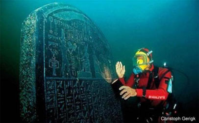 Ancient Egyptian city of Heracleion