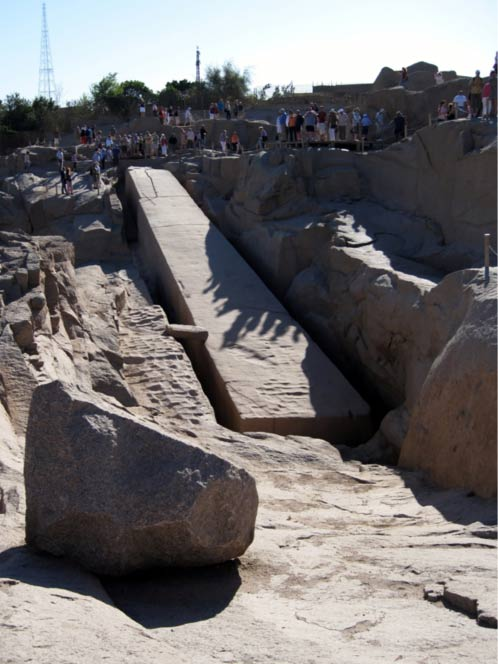 An ancient obelisk at Aswan, Egypt, that workers had not finished carving out of the ground Olaf Tausch