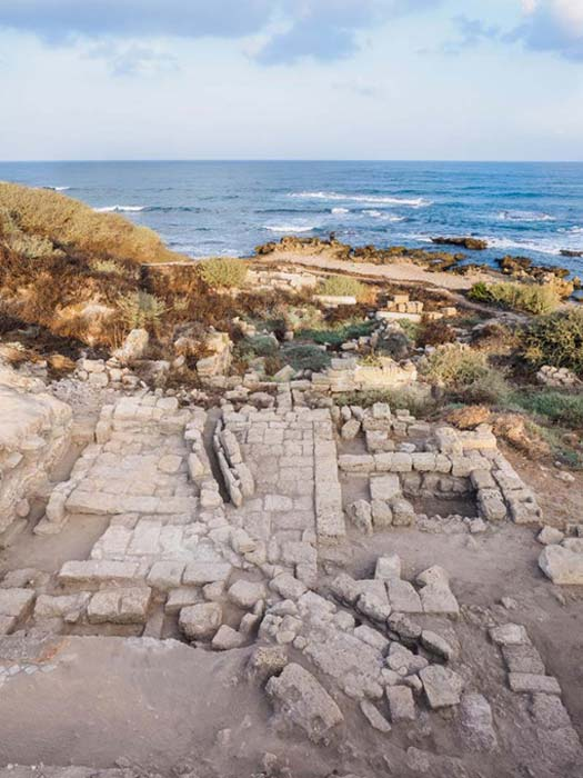 The ancient synagogue of Caesarea.