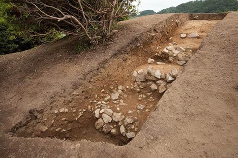 Ancient pyramid tomb in Japan - Asuka