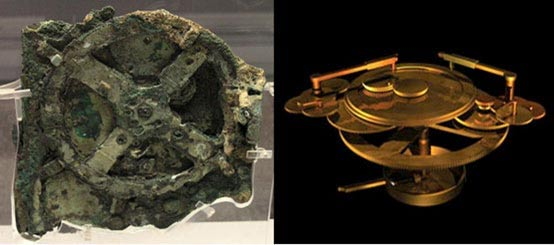 The original Antikythera mechanism and a reconstruction