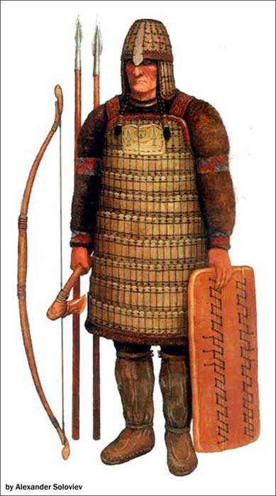 According to Gusev Yamal, the armor resembled the design used by Kulai peole.