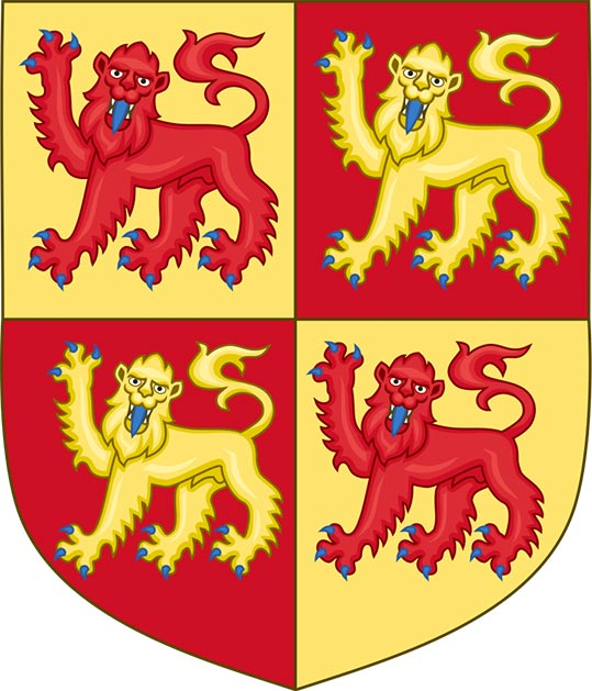 The arms of the royal house of Gwynedd were traditionally first used by Llywelyn's father. (Sodacan / CC BY-SA 3.0)