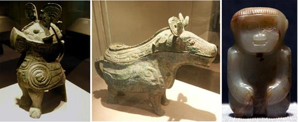 Artifacts found in Fu Hao's tomb