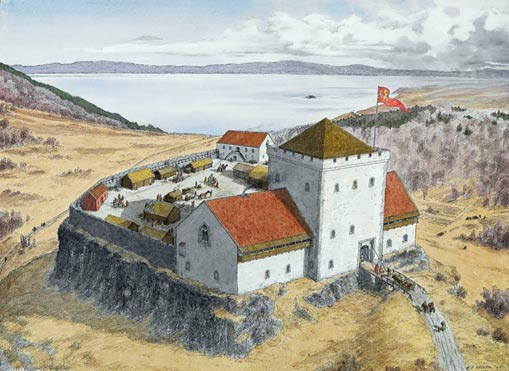 Artist's impression of Sverresborg
