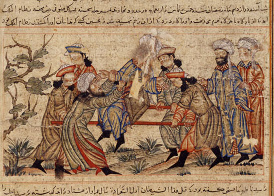 The assassination of Nizamal-Mulk by a hashshashin