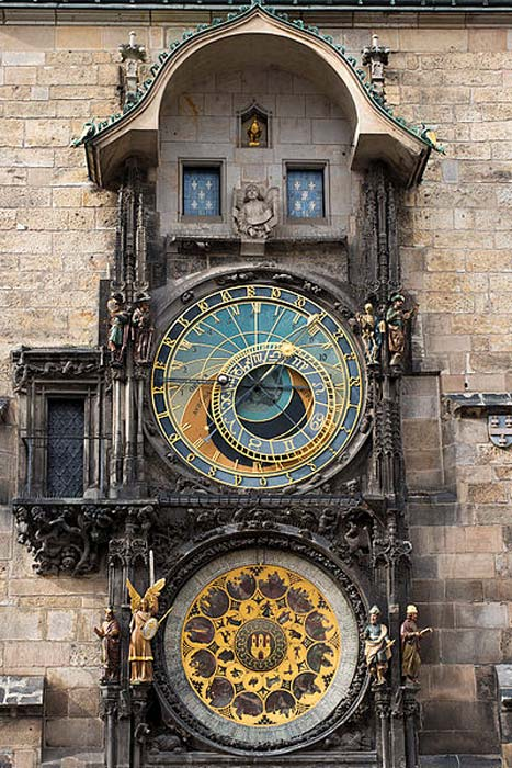The astronomical clock in Prague, Czech Republic.