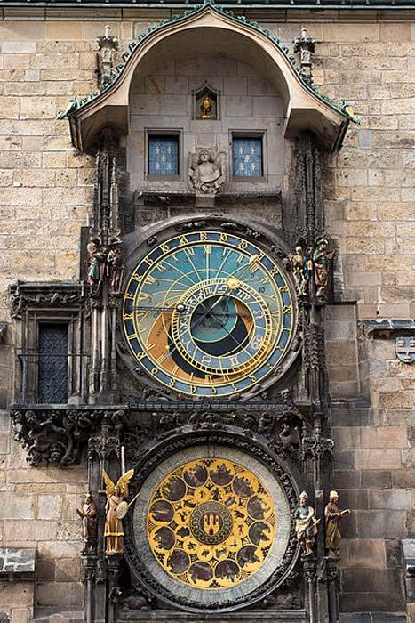 The astronomical clock in Prague, Czech Republic.