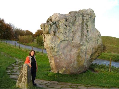 Avebury diamond shaped stone