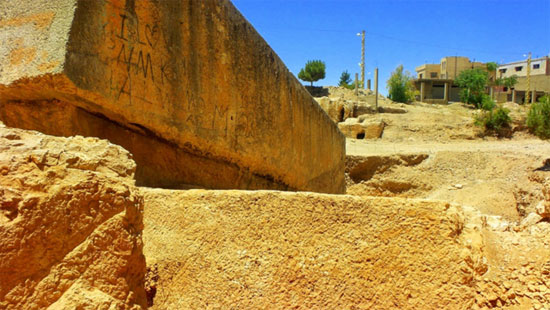 The massive carved stones of Baalbek