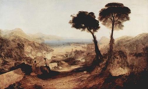 baiae turner - El misterio de los túneles romanos de Bayas