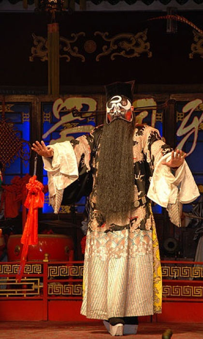 Bao Zheng portrayed by a Peking Opera actor. (CC BY-SA 2.0)
