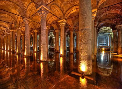 The spectacular Basilica Cistern