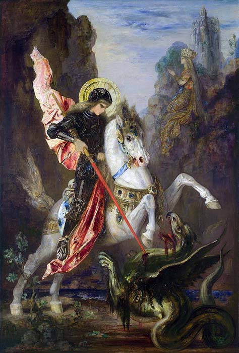 The epic battle between St. George and the dragon was first described in the Legenda Aurea, or Golden Legend, which was published in the middle of the 13th century AD. (Gustave Moreau / Public domain)
