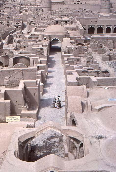 A bazaar in Bam, Iran.