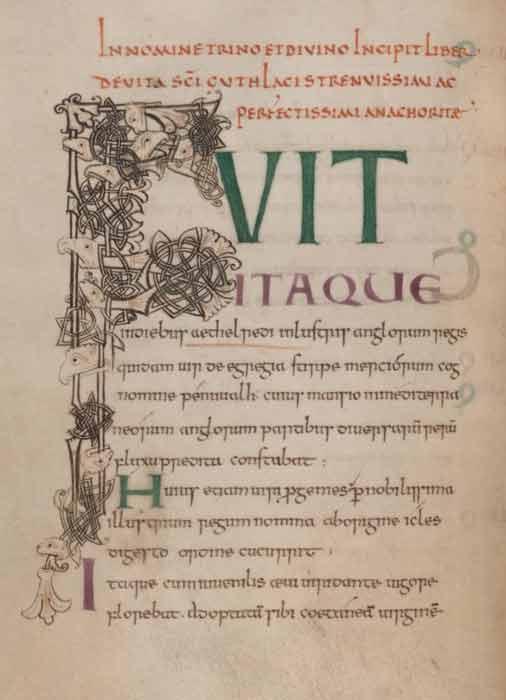 The beginning of Felix's Life of St Guthlac. (Felix / Public domain)