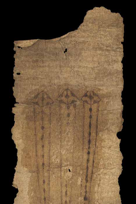 The recent birthing girdle study focused on the medieval English birth scroll known as MS.632 (c. 1500), which is part of the Wellcome Collection, London. The girdle contains prayers and invocations for safe delivery in childbirth. Biomolecular evidence found on the girdle proved that it was actively used. (Image courtesy of the Wellcome Collection)
