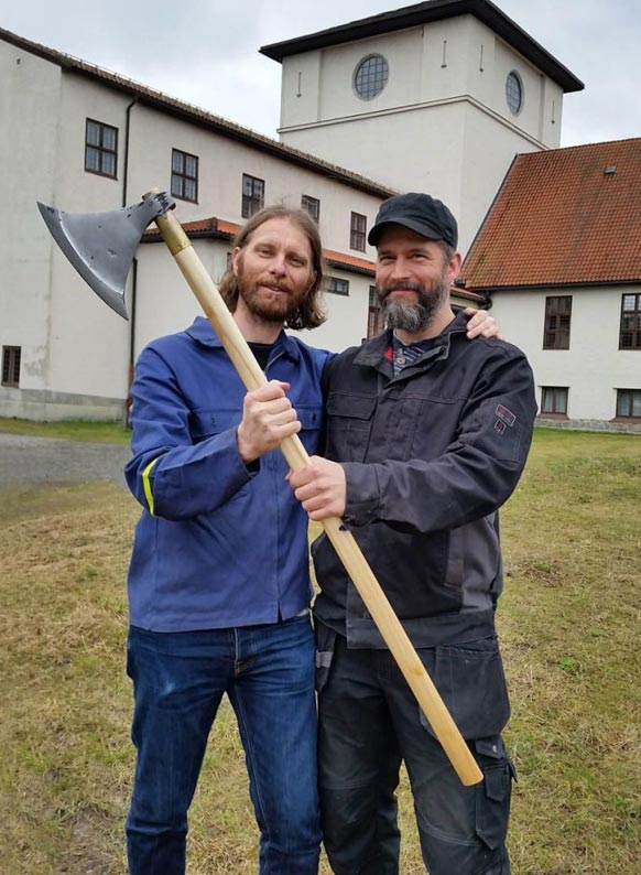 The blacksmiths: Vegard Vike and Anders Helseth Nilsson.