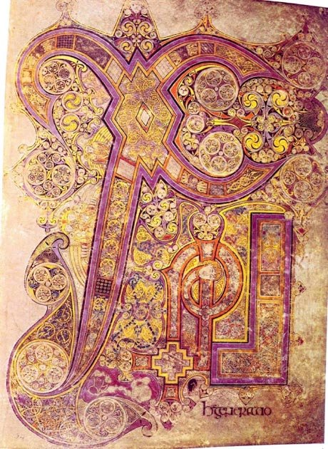 The Book of Kells contains the Chi Rho monogram. Chi and rho are the first two letters of the word Christ in Greek. (Soerfm / Public Domain)