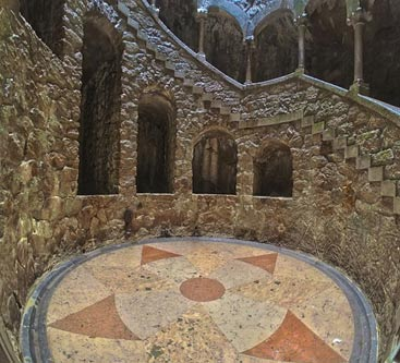 The bottom of the Initiation well at Quinta da Regaleira